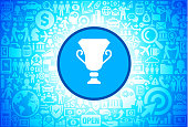 Trophy Icon on Business and Finance Vector Background