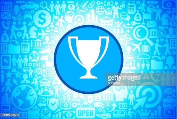 ilustrações, clipart, desenhos animados e ícones de ícone de troféu em negócios e finanças de fundo vector - trophy