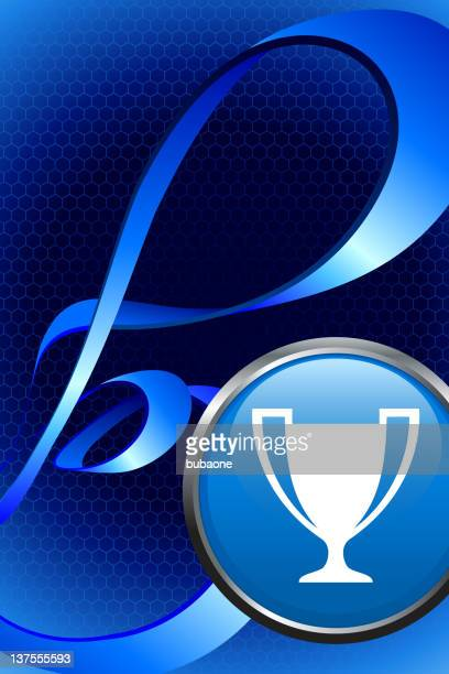 Trophy royalty free vector art on abstract Background