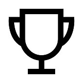 trophy thin line vector icon