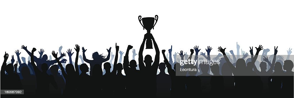 Trophy (61 Complete People, Clipping Path Hides the Legs) : stock illustration