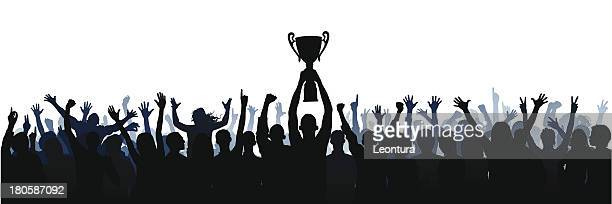 trophy (61 complete people, clipping path hides the legs) - trophy stock illustrations