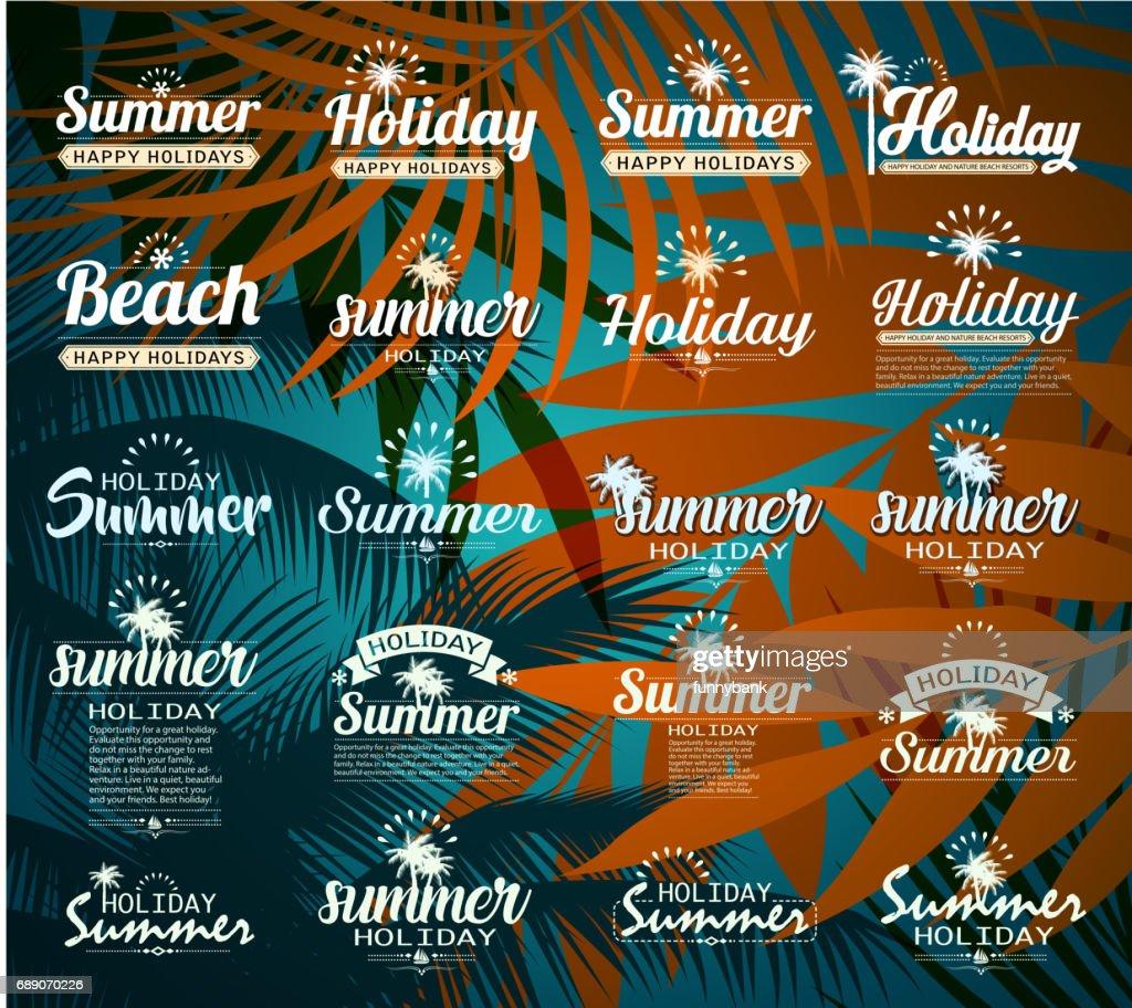 tropic holiday sign : Stock Illustration