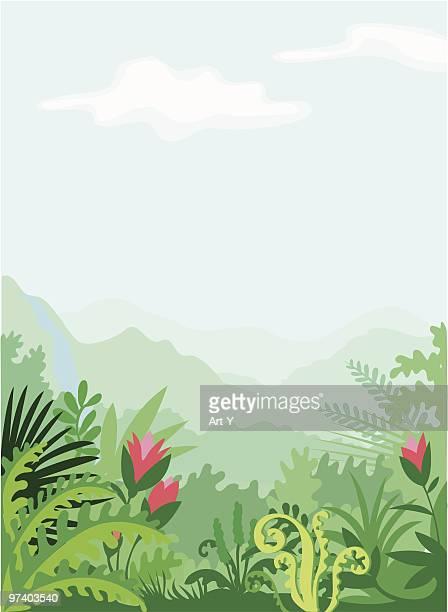Tropic landscape - vertical