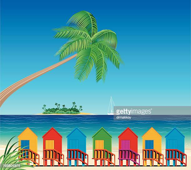 Tropical Beach and Huts