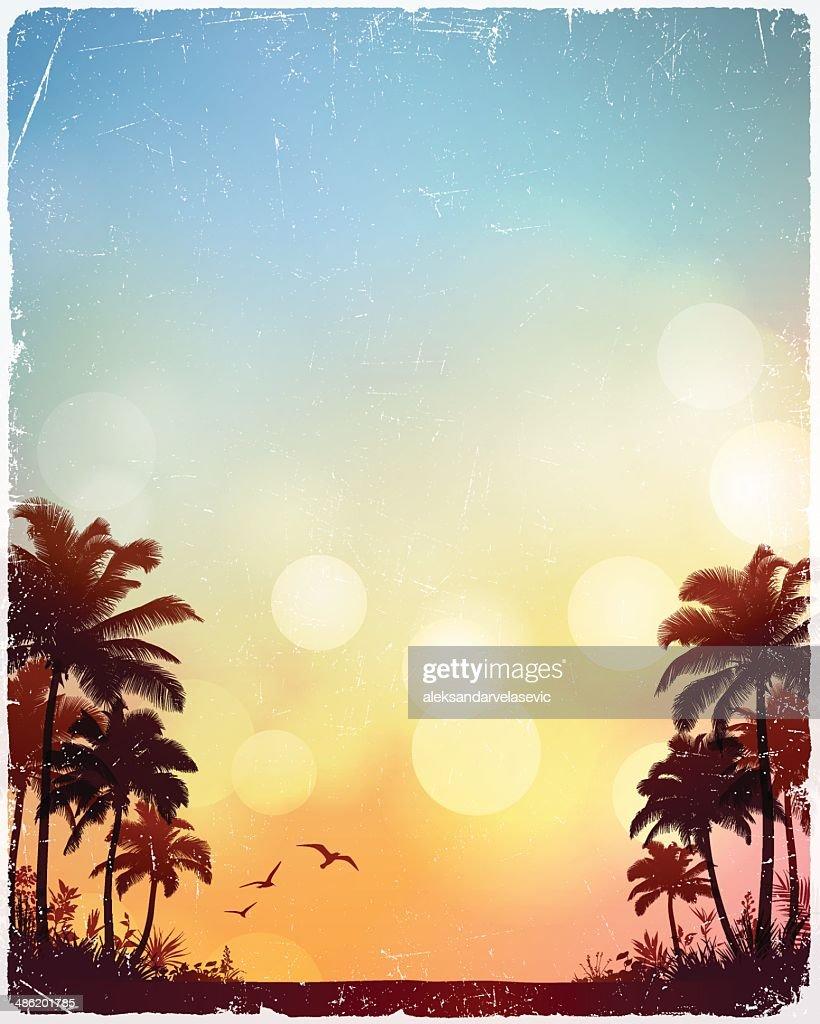 Tropischen Strand Hintergrund : Stock-Illustration