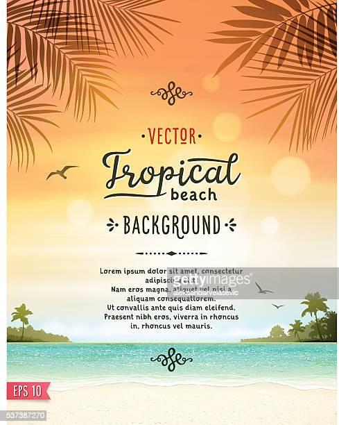 Tropischen Strand Hintergrund