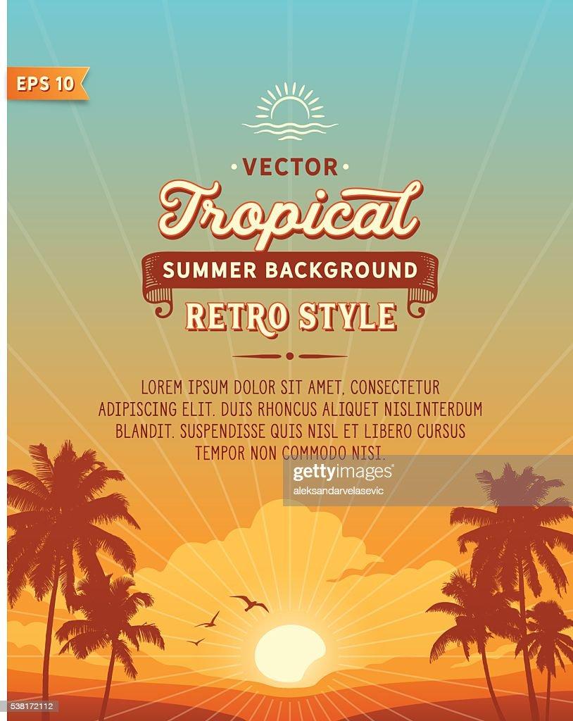 Tropical Beach Background : Stock Illustration