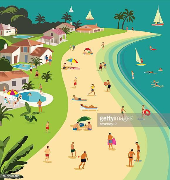 トロピカルビーチの休日-portraite