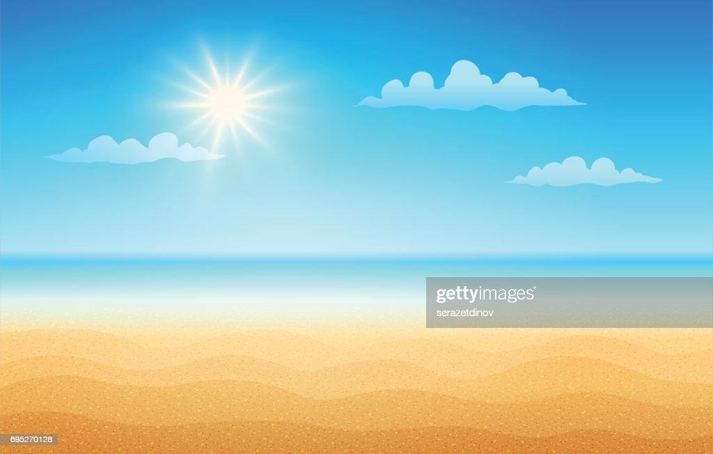 Tropical beach in sunny day.