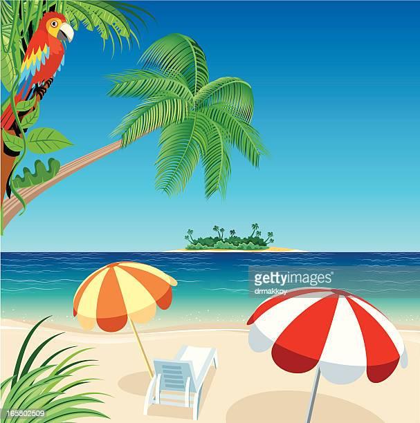 Deserted Island Beach: Desert Island Vector Art And Graphics