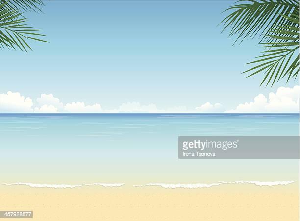 ilustrações, clipart, desenhos animados e ícones de praia tropical - praia