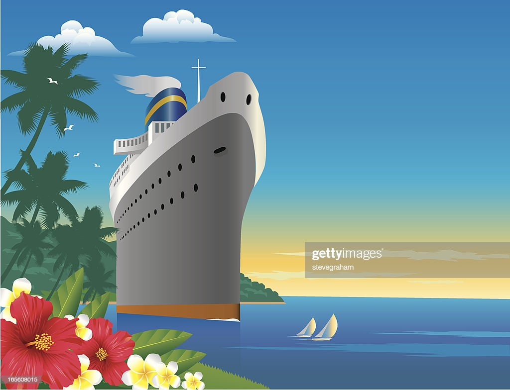 Tropical Cruise : stock illustration