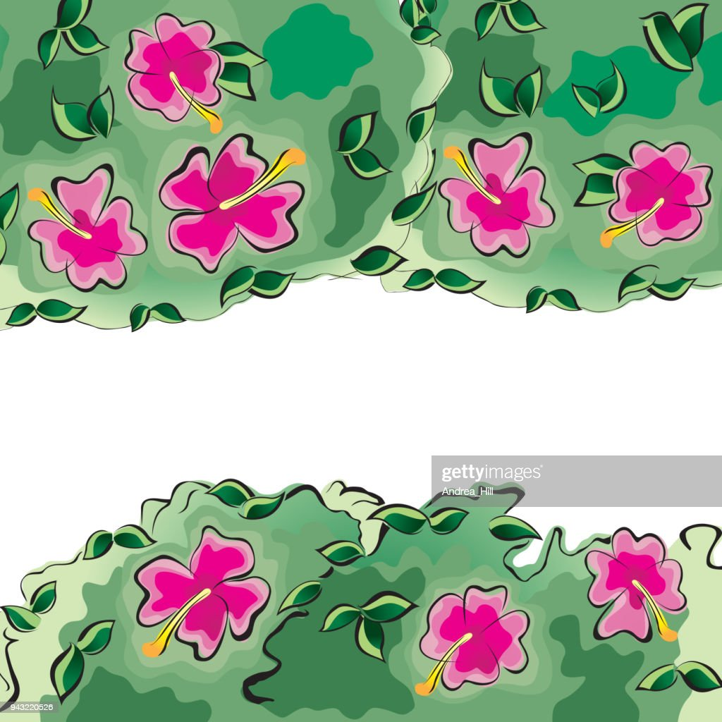 Tropical design template or border with hibiscus flowers vector art tropical design template or border with hibiscus flowers vector art izmirmasajfo