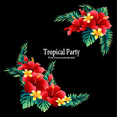 Tropical flower decoration diameter,