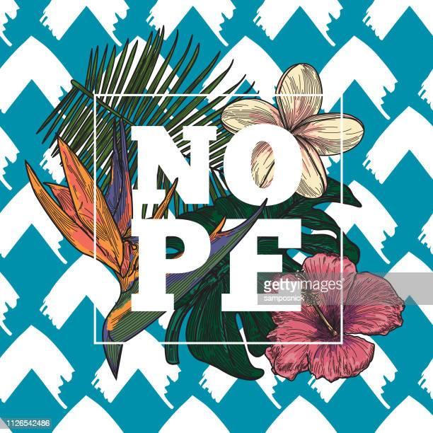 Diseño tropical flor NOP