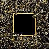 Tropical Gold Square Frame
