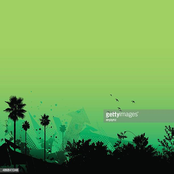 Fundo verde Tropical