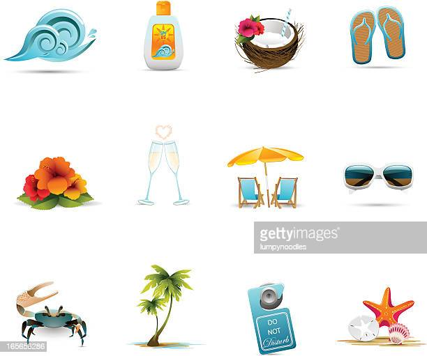 Tropical Honeymoon Icons