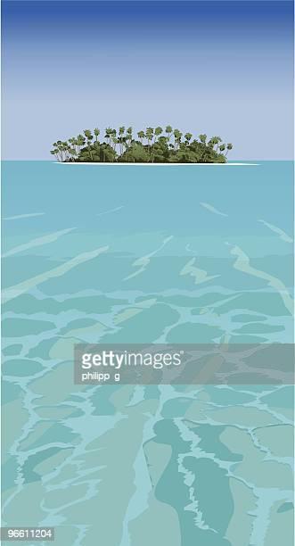 Tropische Insel-Vektor