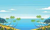Tropical landscape. Vector illustration.
