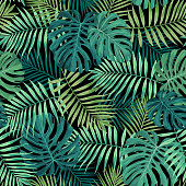 Tropical Leaf Pattern in Green