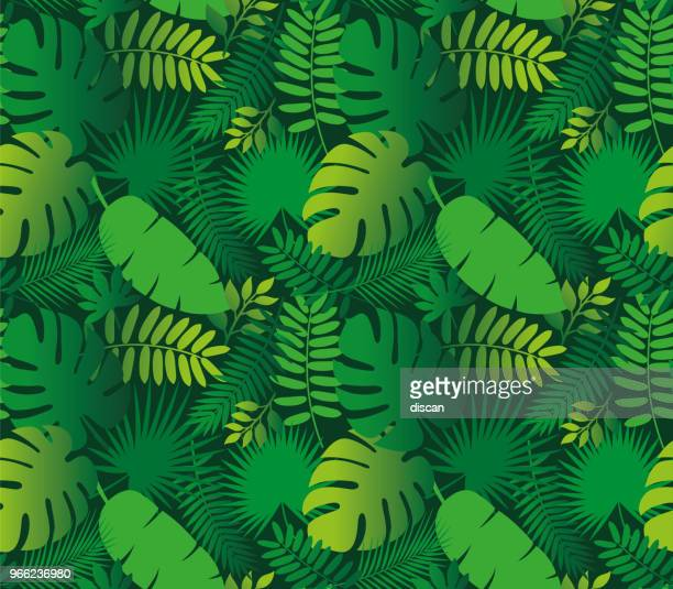 Tropical Leaf Seamless Pattern