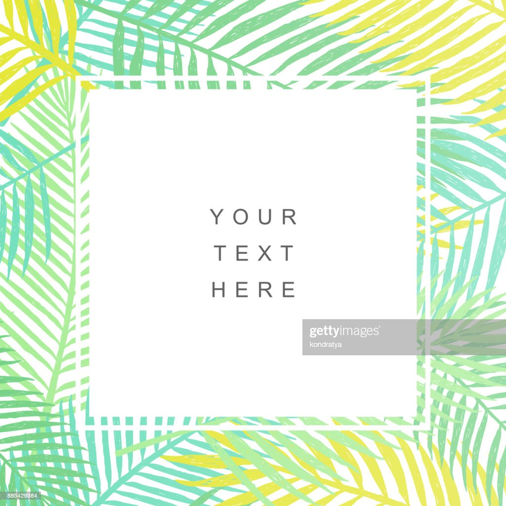 Tropical leaves background. Modern design