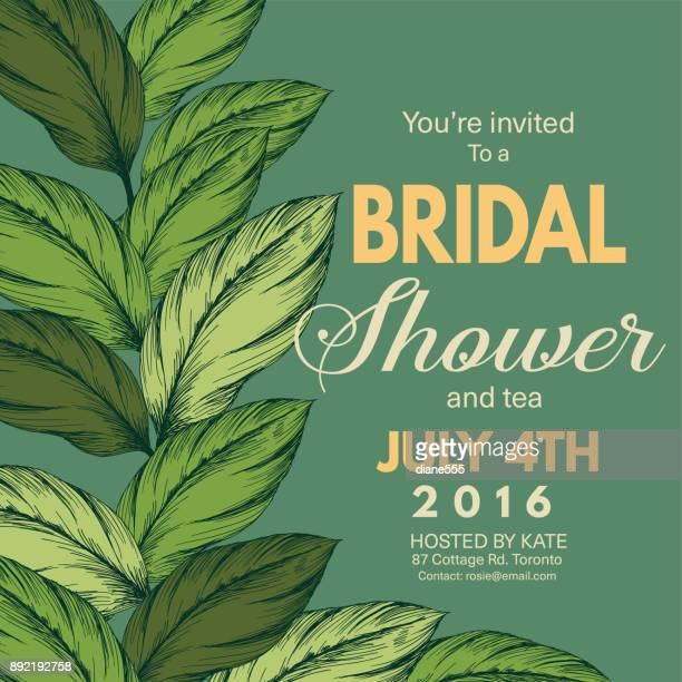 Tropical Leaves Invitation Template