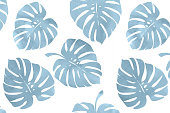 Tropical leaves, monstera pattern