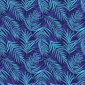 Tropical palm leaf seamless pattern colored 10eps