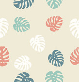 Tropical palm leaves Endless Background