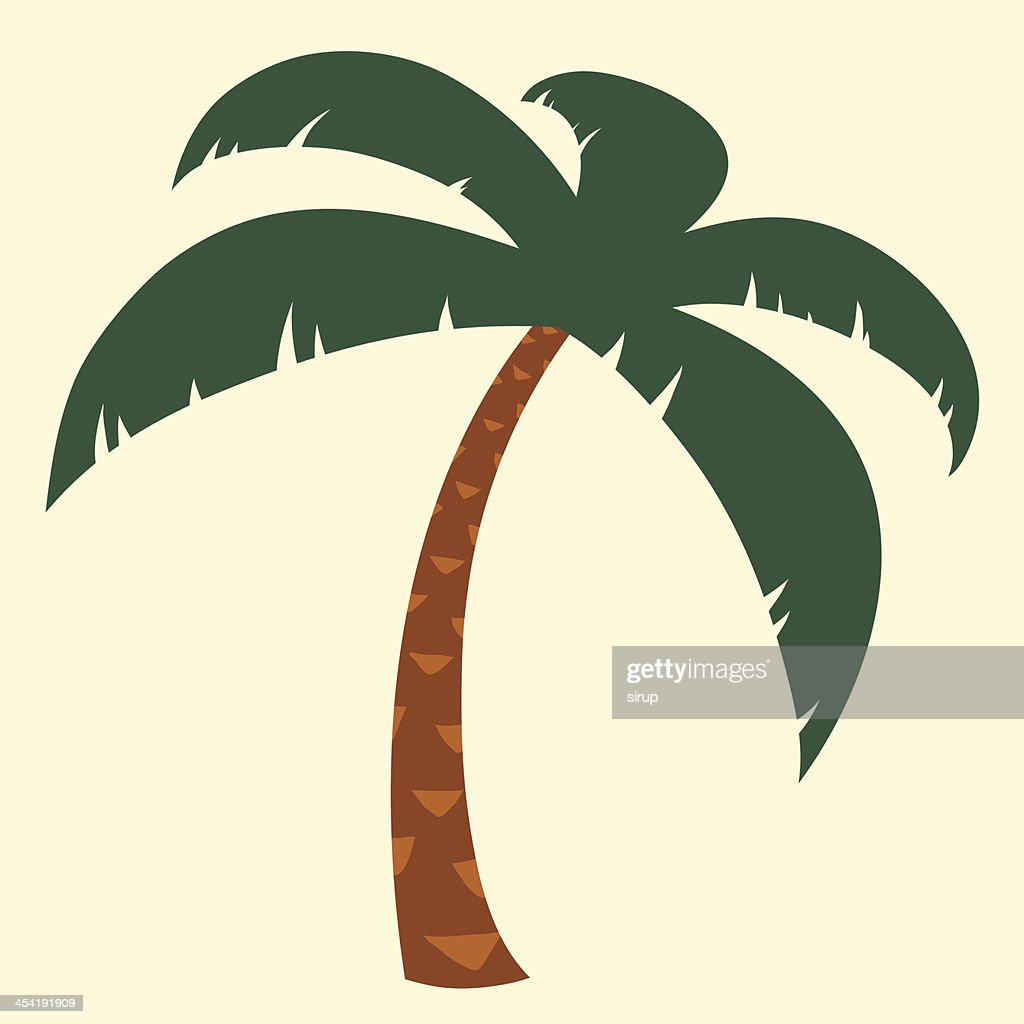 Tropical palm tree illustration : Vector Art