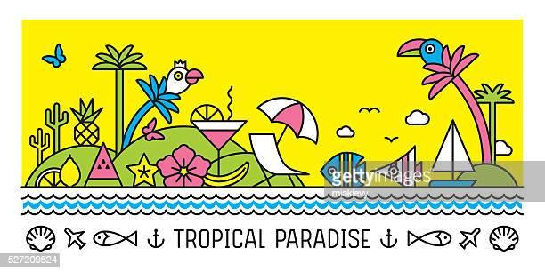 Tropical paradise banner