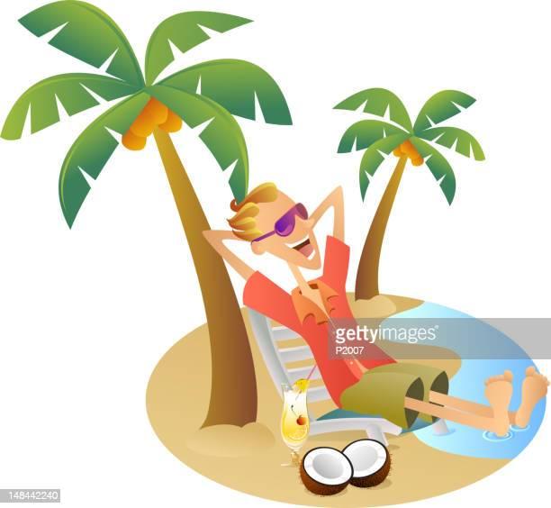 tropical paradise - hawaiian shirt stock illustrations