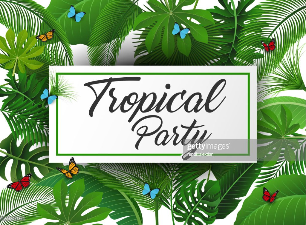 Tropical Party Sign With Tropical Leaves And Butterflies Suitable For Summer Concept Vacation And Summer Holiday Vector Illustration High Res Vector Graphic Getty Images Stay tuned and subscribe so you don't miss out. https www gettyimages com detail illustration tropical party sign with tropical leaves and royalty free illustration 858594784
