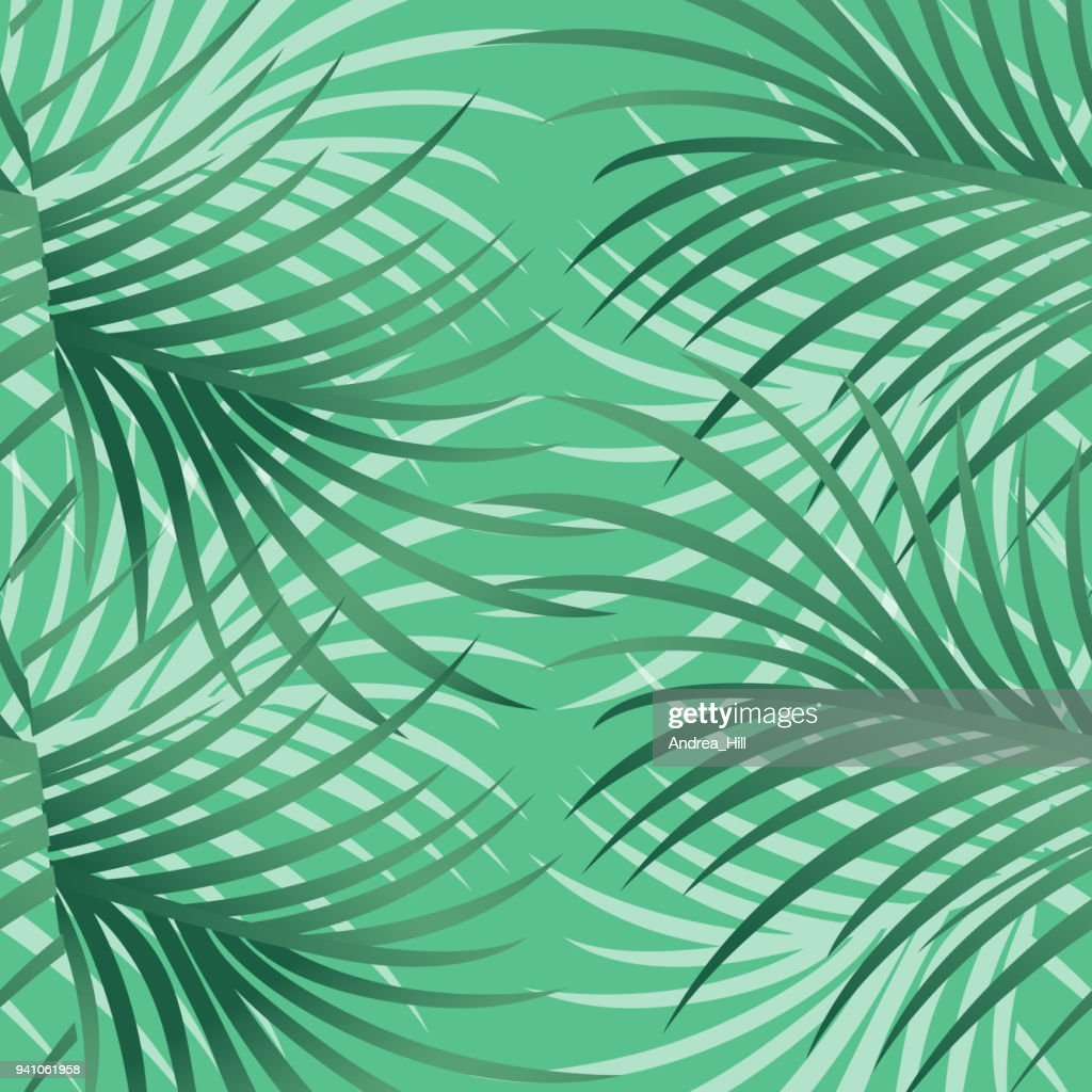Tropical Pattern With Leaves and Flowers - Vector Illustration : stock illustration