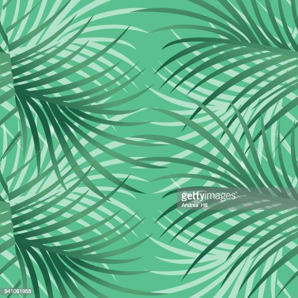 tropical pattern with leaves and flowers - vector illustration - southern usa stock illustrations, clip art, cartoons, & icons