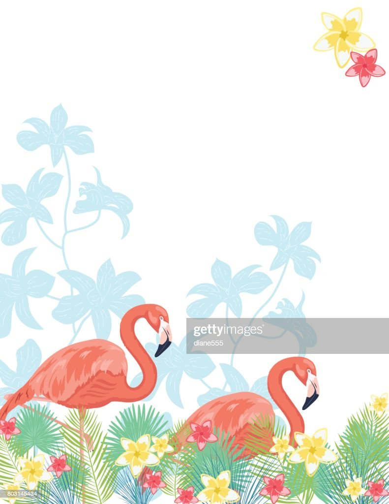Tropical Plants Background : stock illustration