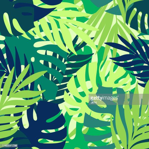 tropical seamless pattern - textile industry stock illustrations