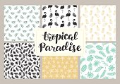 Tropical seamless patterns collection