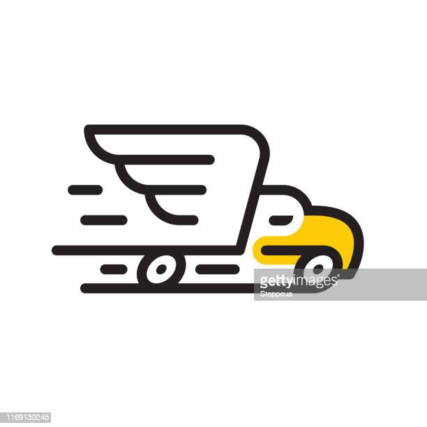 truck and eagle - animal wing stock illustrations