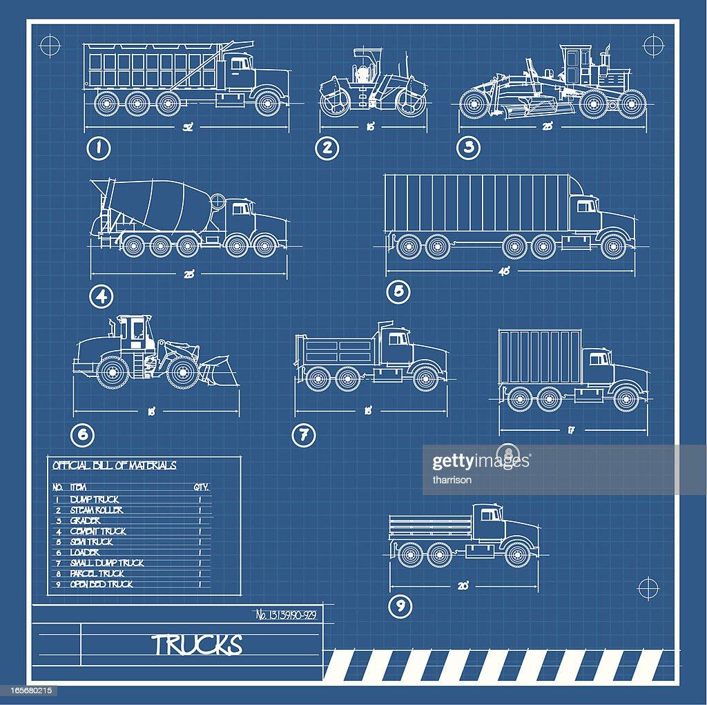 Truck Blueprint stock illustration - Getty Images