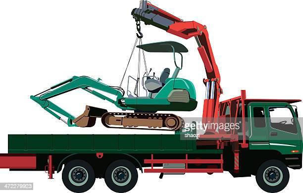 truck crane pick up grab