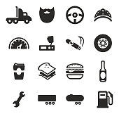 Truck Driver Icons