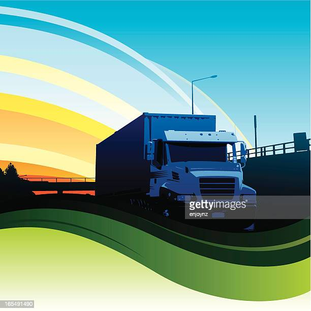 illustrations, cliparts, dessins animés et icônes de circulation de camion - chauffeur routier