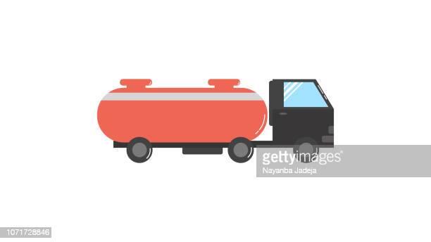 Truck fuel tanker icon