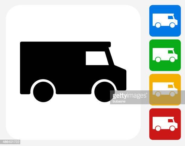 Truck Icon Flat Graphic Design