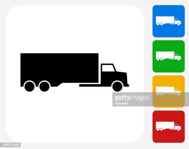 illustrations, cliparts, dessins animés et icônes de icône camion à la conception graphique - chauffeur routier
