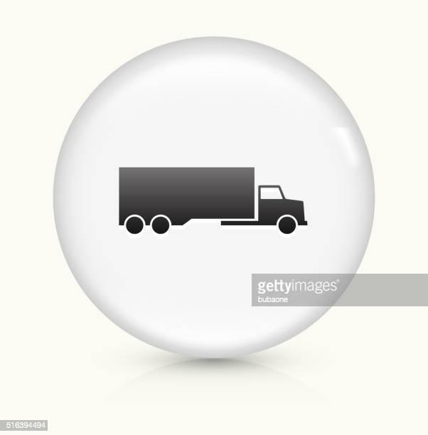 illustrations, cliparts, dessins animés et icônes de camion icône sur blanc vecteur rond bouton - chauffeur routier